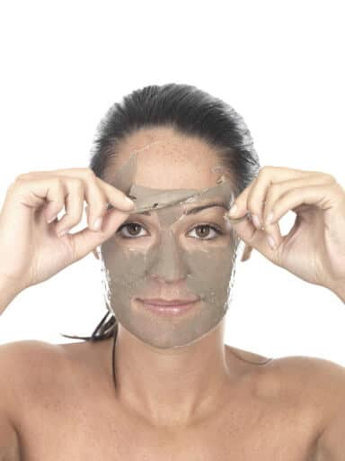 Stop age spots on skin with a face mask.